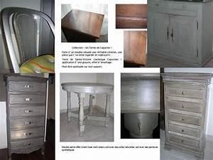 Peinture A Effet Pour Meuble : peinture craquelee pour meuble ~ Melissatoandfro.com Idées de Décoration