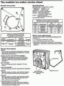 modual ice maker diagnostic sheet with regard to With wiring diagram for kenmore ice maker