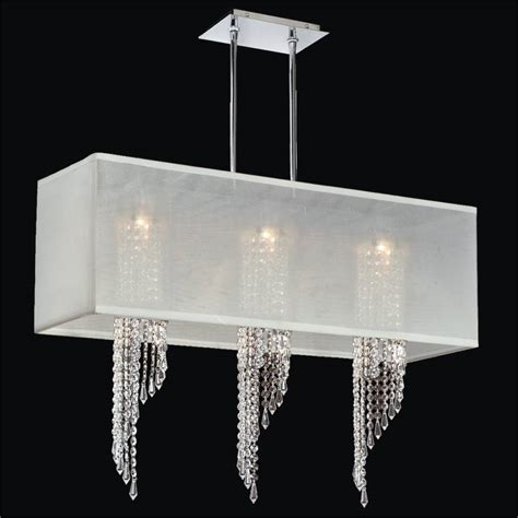 rectangular shade chandelier with spiral