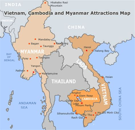 vietnam  cambodia travel maps