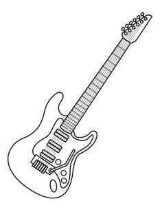 Rock And Roll Coloring Pages Electric Guitar