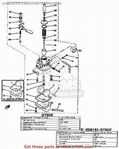 Yamaha Gt80 1979 Usa Carburetor Gt80e  Gt80e