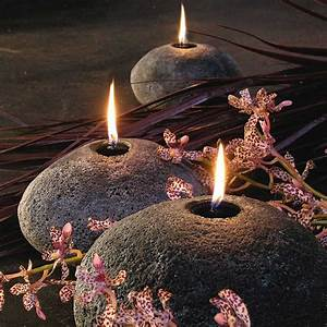 Stone, Boulder, Candles