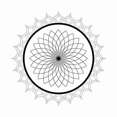 Mandala Coloring Pages Printable Kaleidoscope Flower Lotus