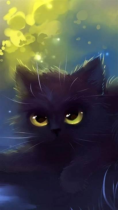 Cat Cartoon Wallpapers Eyes 6s Apple