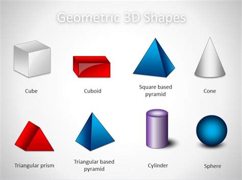 3d Shapes : Free 3d Geometric Shapes Template For Powerpoint Presentations
