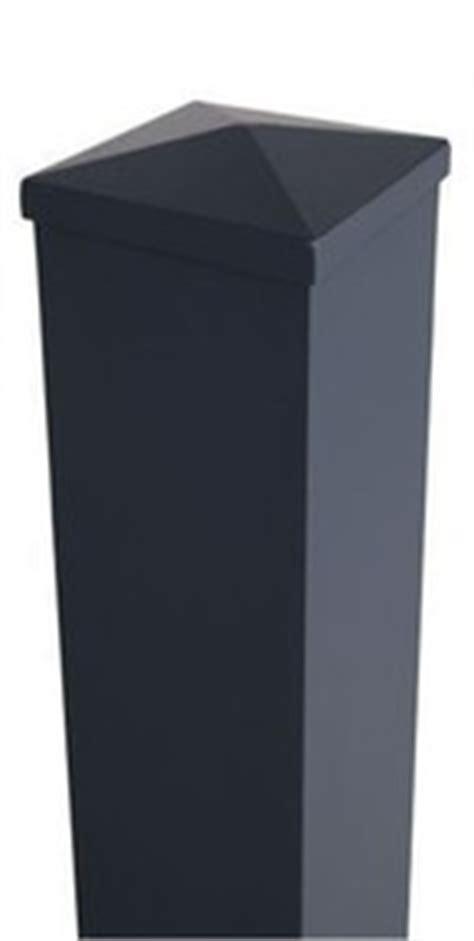 poteau aluminium section 15x15 cm haut 2 50m gris gedimat fr