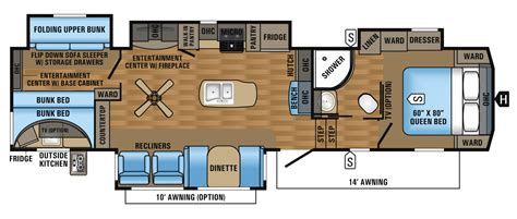 jayco fifth wheel floor plans 2018 2017 eagle fifth wheel floorplans prices jayco inc