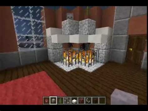 minecraft lets build furniture diagonal fireplace youtube