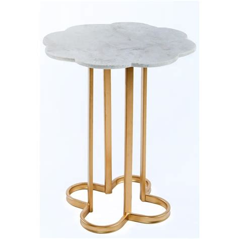 gold and marble end table noir manning gold marble top end table