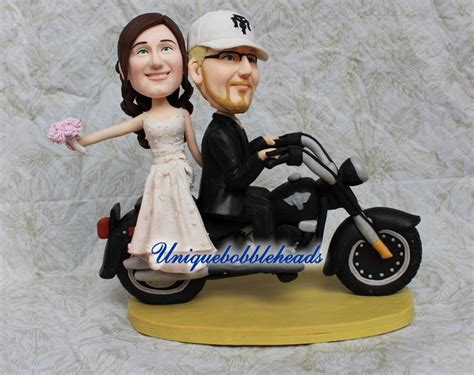 motorcycle wedding cake topperunique cake topperfunny