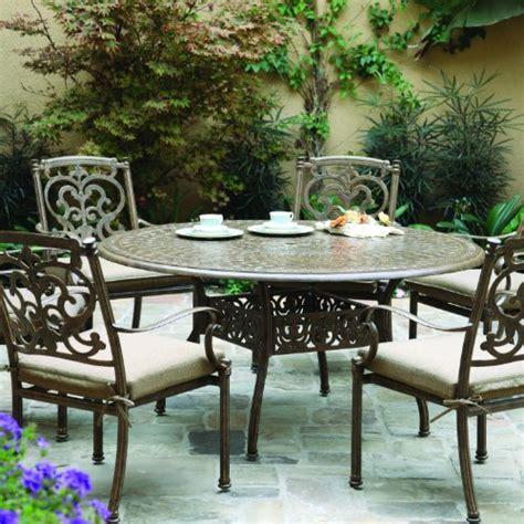 darlee santa barbara 6 person cast aluminum patio dining