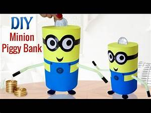 DIY: COIN BANK Recycle your emptied container PIGGY BANK