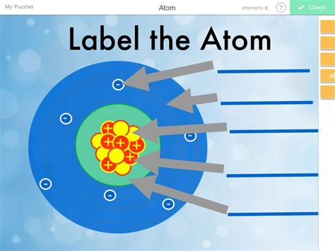 label parts of an atom equation chang e 3 and tables