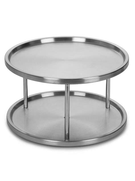 2 Tier Spice Rack Lazy Susan by Stainless Steel Lazy Susan 2 Tier Turntable Kitchen