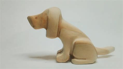 carved wood beagle beginner carving projects youtube