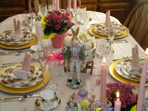 easter table settings tablescapes   country roses