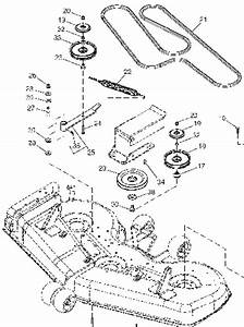 Belt Diagram For John Deere 54in Deck Mower