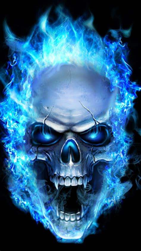 blue flame skull skull wallpaper sugar skull wallpaper