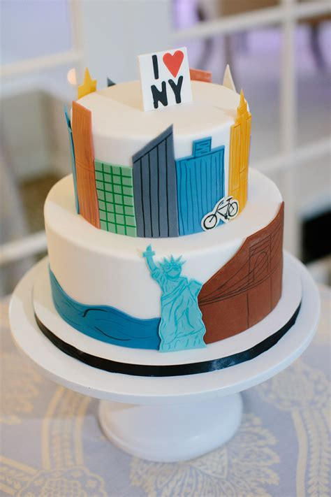 city skyline grooms cake