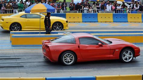 Corvette C6 (ls3) 12.31s Vs Camaro Ss 13.33s. Arrancones
