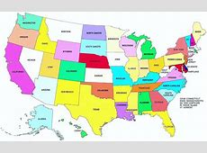Blank Map of the US with States 50 States of USA