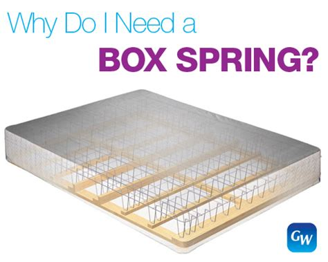 what of mattress do i need why do i need a box with my mattress gardner