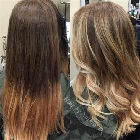 Brown To Hair Before And After Photos by Balayage Highlights Before And After