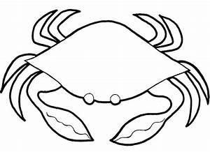 "17 Marine Animals "" Crab "" Coloring Sheet"