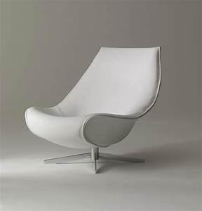 Fauteuil Pivotant Design : oyster fauteuil pivotant en cuir vente en ligne italy dream design ~ Teatrodelosmanantiales.com Idées de Décoration