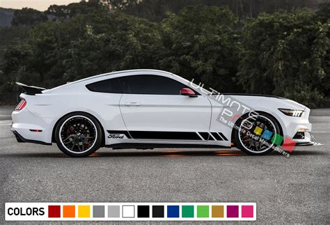 sport decal sticker vinyl side racing stripes compatible  ford mustang