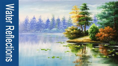 paint water  reflections  acrylics part  youtube