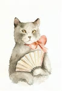 cat fan with a fan cat
