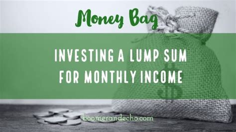 Pay off your credit card. Money Bag: Investing A Lump Sum For Monthly Income, and ...