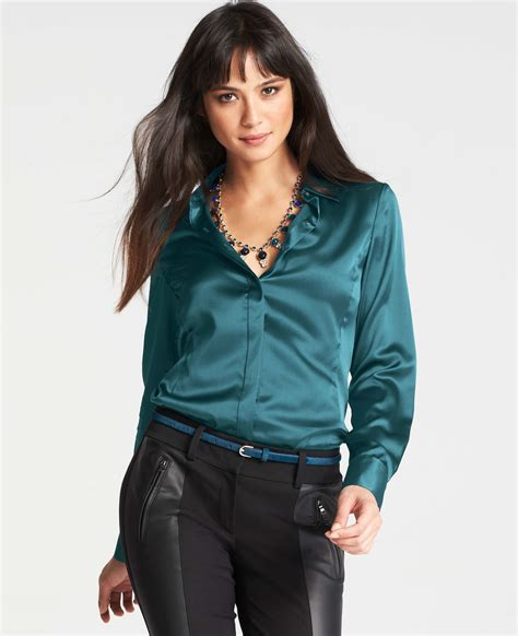 teal blouses silk legacy blouse in blue teal gemstone lyst