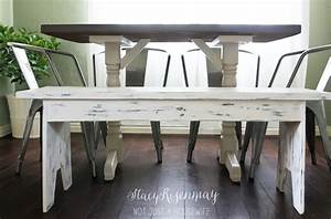 White Distressed Bench {That Started Out a Big Fat Fail