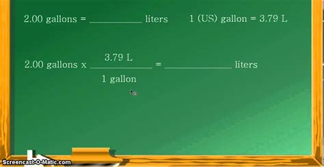 convert gallons to liters unit conversion gallons to liters