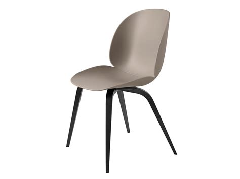 buy  gubi beetle dining chair unupholstered black wood base  nestcouk