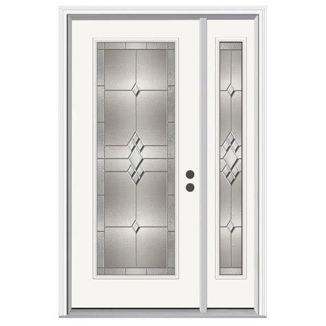 jeld wen doors jeld wen 52 in x 80 in lite kingston primed steel