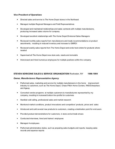 Home Depot Resume Exle by How To Write A Resume For Home Depot 28 Images Sales