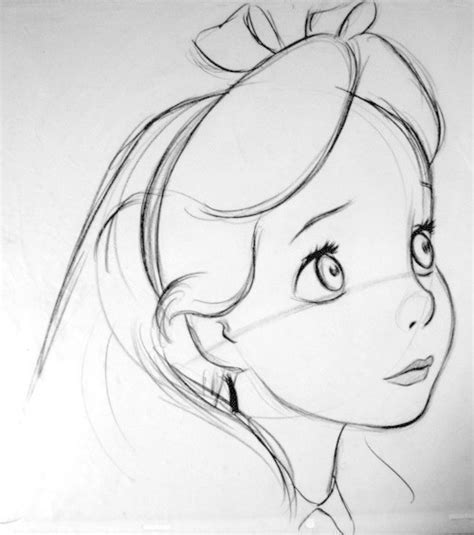 alice  wonderland  portrait drawing  cut