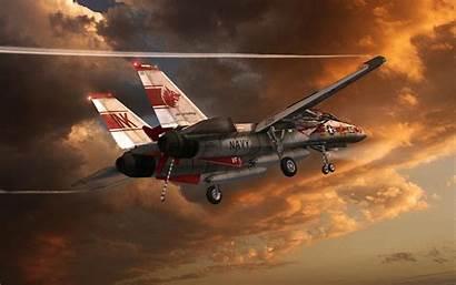 Tomcat Grumman Military Sunset Wallpapers Artwork F14