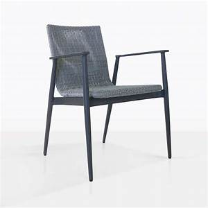 Baltic, Aluminium, And, Wicker, Outdoor, Dining, Chair