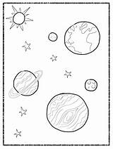 Solar System Coloring Pages Kindergarten Pdf Printable Getcolorings sketch template