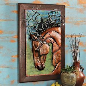Great warrior horse wall sculpture
