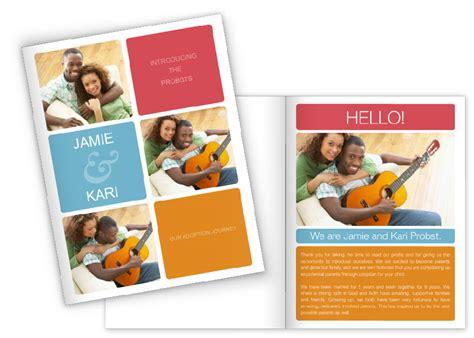 create  adoption profile book