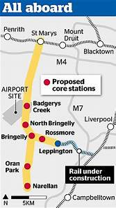 Six stations proposed for future train link to Badgerys Creek
