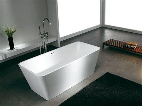 Freistehende Badewanne Ancona Aus Mineralguss  Weiß Matt