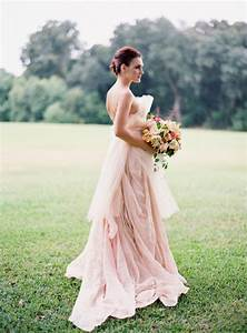 real life beautiful brides in blush wedding gowns With wedding dress sites