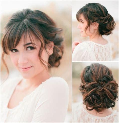 curly bun updo put curled hair into a loose low bun